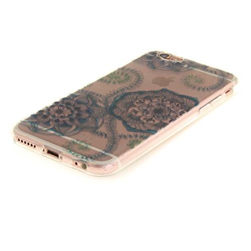 A9H iPhone 6/6S 4.7 Hülle mit Kameraschutz transparent dünne Schutzhülle Case Cover für iPhone 6/6S aus flexiblem TPU -27HUA 20HUA
