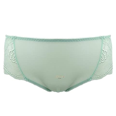 RRRRZ*Lace SEXY UNDERWEAR taste your abdomen hip transparent gauze fabric thin non-marking, Ms. in Waist Trousers ,XL,DK1287-G014/ 3 corner mint green