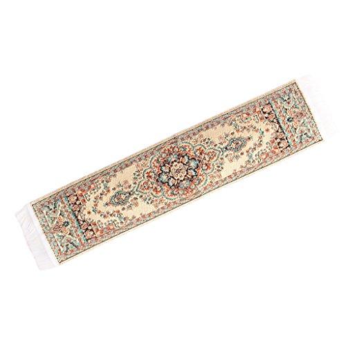MagiDeal 1:12 Puppenhuas Miniatur Möbel Türkischen Stil Teppich 24.5 x 5cm Puppen Hausdekoration - Mehrfarbig H (12 Teppiche X 12)