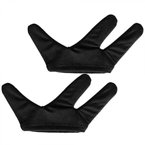 Vococal - 1 Par Resistentes al Calor Guante de 3 Dedos / Herramientas de Peluquería que Labra para plancha de Pelo plano y Rizadora Plancha
