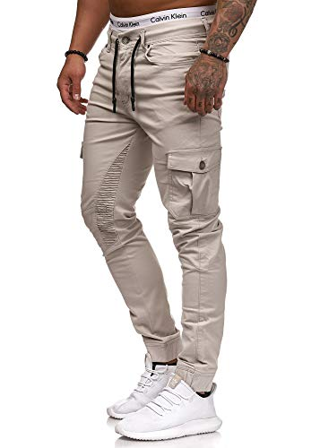 OneRedox Herren Chino Pants | Jeans | Skinny Fit | Modell 3207 Grau 29/32 Shirt Jeans Weste Jacke