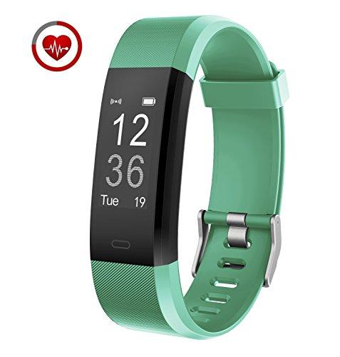 Vigorun Fitness Tracker YG3 Plus Orologio Fitness Monitoraggio della frequenza cardiaca Bluetooth Pedometro Calorie Promemoria sedentario Multiple Sports Mode per Android e iOS (Verde)