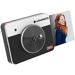 AGFA Photo - Realipix Square S - Appareil Photo Numérique Instantané avec Impression Format carré 7, 6 x 7, 6 cm (3 x 3'') - 10Mp - Bluetooth - Sublimation Thermique 4Pass - Noir