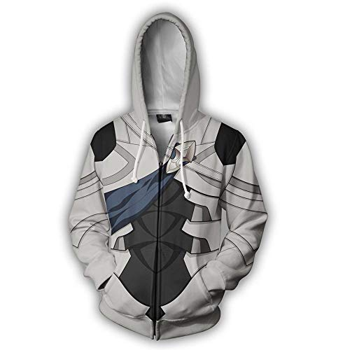 RJHWY 3D Hoodie Sweatshirt Unisex Pullover Kapuzenjacke Kleidung Mantel Reißverschluss Fire Emblem XXXL