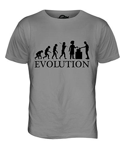 CandyMix Suppenküche Evolution Des Menschen Herren T Shirt Hellgrau