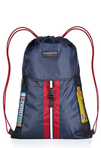 Premium Quality 5 Pocket, Wasserdichte, Turnbeutel Hipster Unisex Sporttasche Rucksack Schwimmen Sackpack Sporttasche PE Sporttasche w / Reflektierende Band Wandern Tasche für Erwachsene und Kinder -