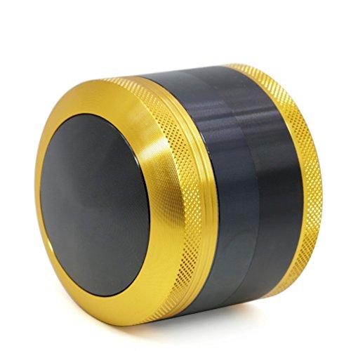 """TANKASE Convexo Premium Aluminio CNC Grinder Molinillo Triturador de Especias y Hierba con Rascador Polen 4 Capas 2.5\"""""""