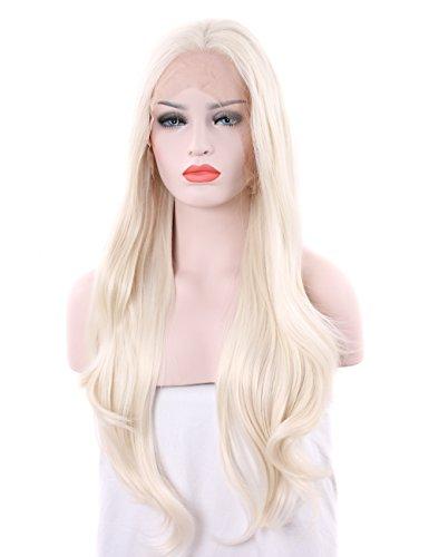 tripal Haare Blonde Perücke Natürliche Platin Blonde Kunsthaar-Perücke -