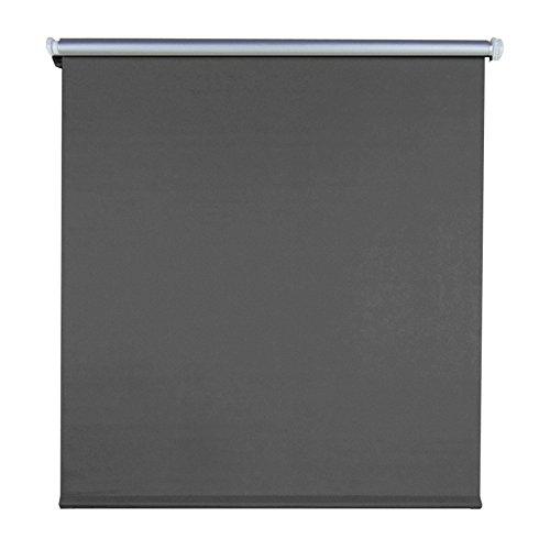SAILUN® Thermorollo Verdunklung Klemmfix ohne Bohren mit Klemmträgern Fensterrollo für Wandmontage & Deckenmontage (100 x 160 cm, Anthrazit)