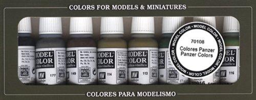 Vallejo 070108 Farbset, Panzer Farben, 8 x 17 ml (Modell Panzer Farbe)