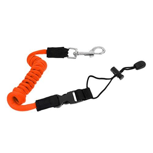 MagiDeal Sangle Corde Spirale Support Pagaie De Kayak Corde De Securité Pour Canne De Pêche - Orange, 140cm