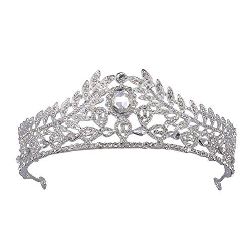 Frcolor Strass Diademe Vintage Kristall Geburtstags-Krone Faschion Haarschmuck Zubehör für Damen und Mädchen