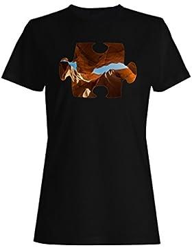 Rompecabezas montaña picture image nuevo camiseta de las mujeres e870f