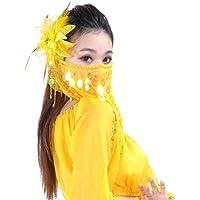 Dance Fairy giallo caldo danza del ventre paillettes e Beads
