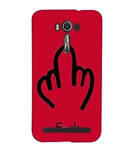 Middle Finger 3D Hard Polycarbonate Designer Back Case Cover for Asus Zenfone 2 Laser ZE550KL (5.5 inches)
