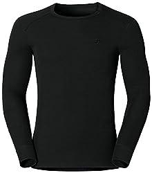 Odlo Herren Langarm Unterhemd Crew Neck Warm, black, M, 152022