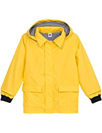 Petit Bateau - Manteau imperméable - Uni - À capuche - Manches longues - Bébé Garçon, Jaune, FR : 12 mois (Taille fabricant : 12 mois)