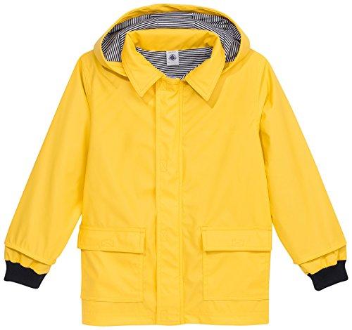 Petit Bateau - Manteau imperméable - Uni - À capuche - Manches longues - Fille, Jaune, FR : 3 ans (Taille fabricant : 3 ans)
