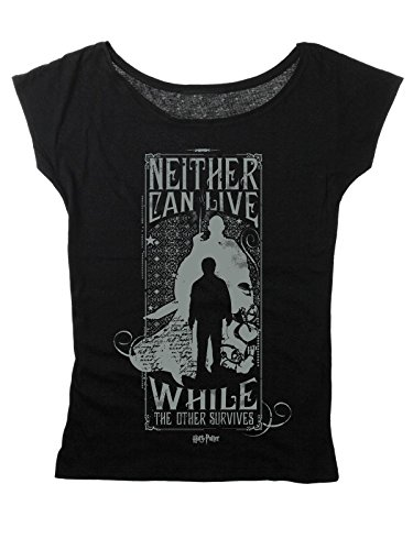 Neither Can Live - Harry & Voldemort Camiseta Mujer Negro XL