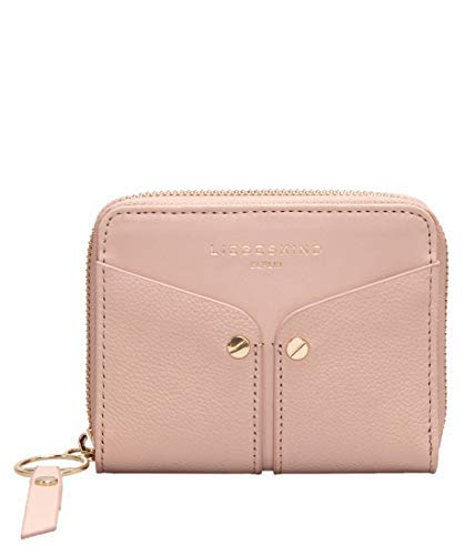 Liebeskind Berlin Damen Duo Conny Wallet Medium Geldbörse, Pink (Dusty Rose), 2x10x13 cm -