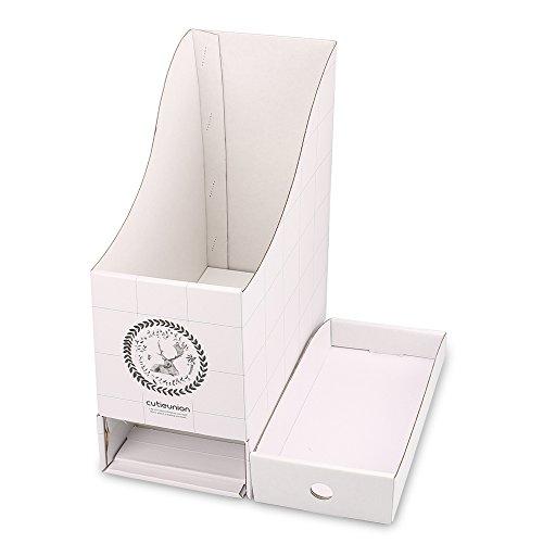 txy DIY Datei Racks Stehsammler Halterung Papier Buch Aufbewahrung Büro Schreibtisch Organizer 2Stück weiß
