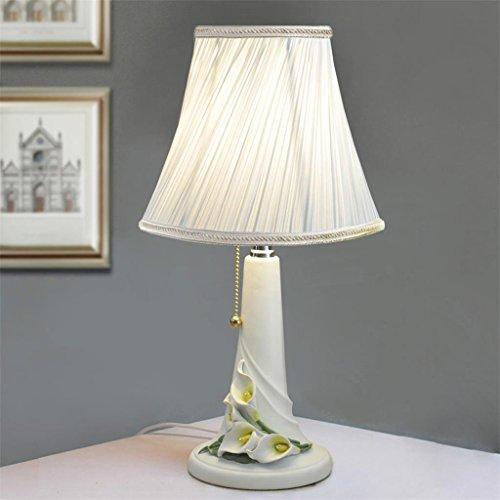 Uncle Sam LI lampe de chevet jardin chambre salon Creative style européen Calla lampe de table, lampe de table de résine (couleur : Blanc)