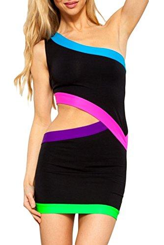E-Girl femme Noir SY21365-2 robe de cocktail Noir