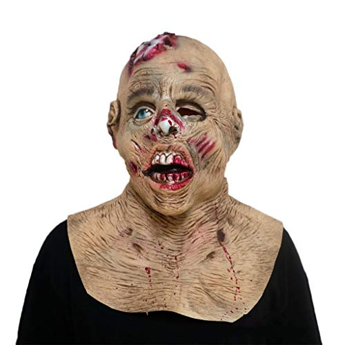 GXDHOME Halloween Latex Kopf Masken, Resident Evil Vampir Grimasse Geist Spukhaus Monste Kostüm Horror Zombie Lustige Scary Creepy Fancy Dress (Resident Evil Fancy Dress Kostüm)