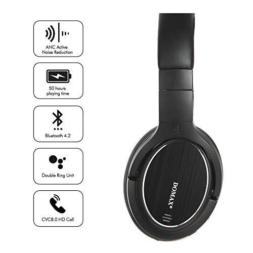 Noise Cancelling Kopfhörer bis 48 Std. Abspielzeit, Bluetooth Kopfhörer DOMAX M1, Noise Cancelling Kopfhoerer Komfortable, HiFi Stereo Over Ear Kopfhörer - 3