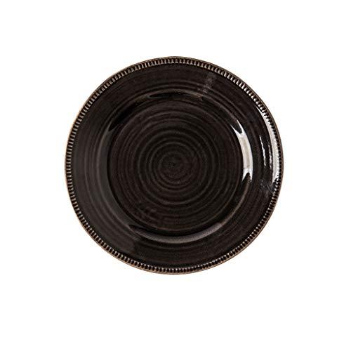 YYF Vaisselle en céramique rétro européenne - café fait maison de nouilles au riz de 8,5 à 10,5 pouces (Color : Black, Taille : 27.3cm)