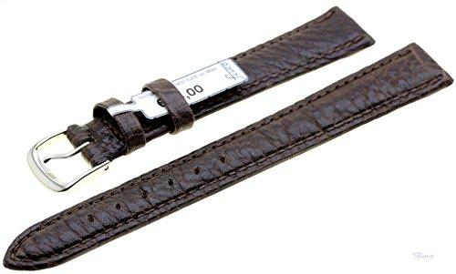 Uhrenarmband Ersatzband Leder Record dunkelbraun 3150-02 Extralang, Breite:16 mm