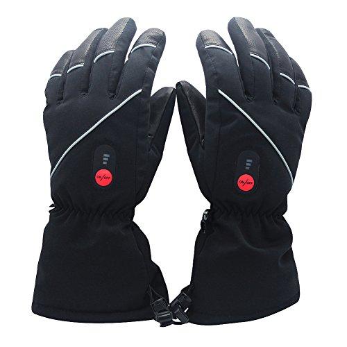 Guanti riscaldati per uomo e donna, SAVIOR con batteria ricaricabile agli Ioni di Litio, guanti riscacaldati per ciclismo Motociclismo ed Escursionismo Alpinismo, Funzionano fino a 6 ore (XXXL)