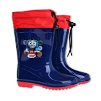 Thomas and Friends Wellies Snow Boots With Waterproof Fabric Toggle Tie Tops (8.5 UK Child, Navy)