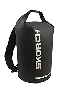 SKORCH Dry Bag Backpack (Black) Protects Your Valuables From Water and Dirt While You Have Fun. Free Shipping on Qualifying Orders. Padded Shoulder Straps. Size 10x16 Inches | 20 Liter Size 10 x 16 inches (1220 Cubic inches | 20 Litre)