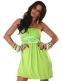 Jela London Damen Bandeau-Cocktailkleid einfarbig Einheitsgröße (32-36)