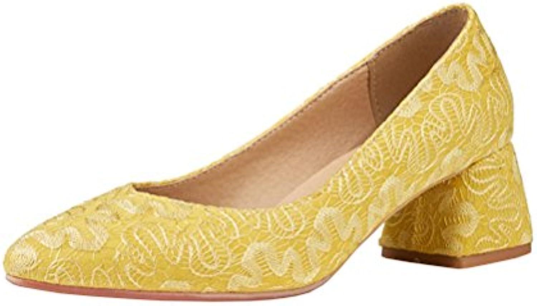 eddb579e64a Agodor Women s Mid Mid Mid Chunky Heel Elegant Pointed Toe Court Shoes  Retro Summer Classic Leisure Pumps B07B4DY6CV Parent 9b6515