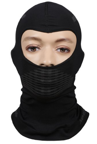 Sturmhaube Ski Maske Thermo atmungsaktiv Bike-Motorrad-Ski-Snowboard-Schwarz