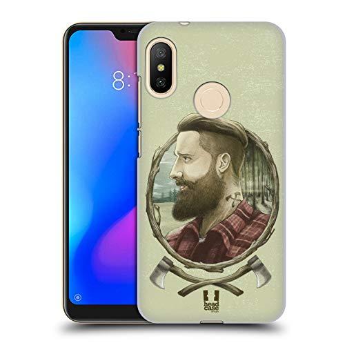 Head Case Designs Holzhacker Männliche Hipsters Ruckseite Hülle für Xiaomi Mi A2 Lite/Redmi 6 Pro