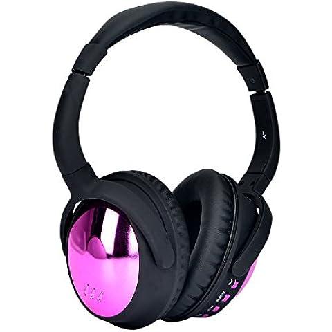 Aita BT805 Bluetooth Auriculares over ear Inalámbricos con Micrófono, Con el Mejor Ruido que Cancela para el iPhone, iPod, iPad, Android Smartphone, tablet, MP3 etc. Adultos Hombre Niñas Niños Regalo (Rosa)