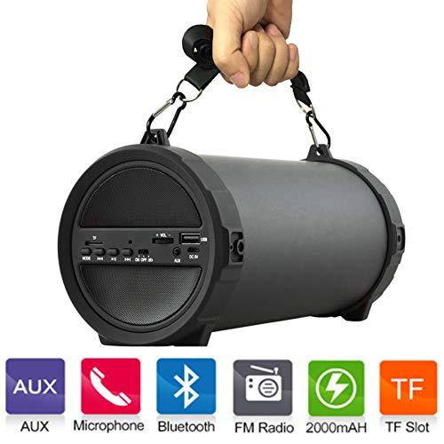 Altavoz Inalámbrico Al Aire Libre del Bluetooth Cilindro Altavoces Bajos con El...