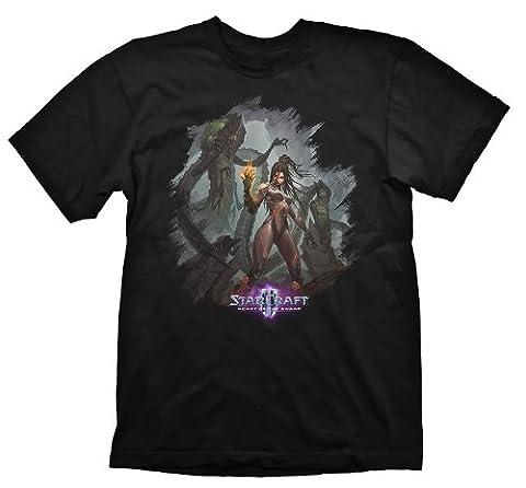Starcraft 2 T-Shirt Heart Of The Swarm Kerrigan Leader, Größe