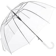 Paraguas Transparente Mujer, con Forma de Cúpula y Función Antiviento. Paraguas Vogue Burbuja Infantil