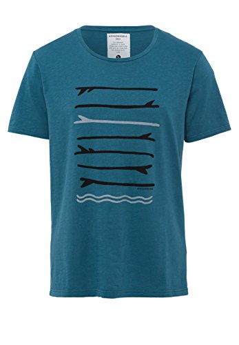 ARMEDANGELS Herren T-Shirts aus Bio-Baumwolle - Dean Surf Boards - FAIRTRADE, GOTS, ORGANIC, CERES-008 Legion Blue
