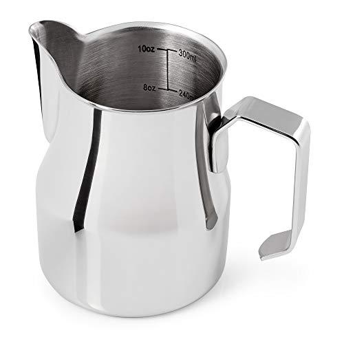 Premium Milchkännchen 350ml aus rostfreiem Edelstahl für den perfekten Milchschaum in Barista...