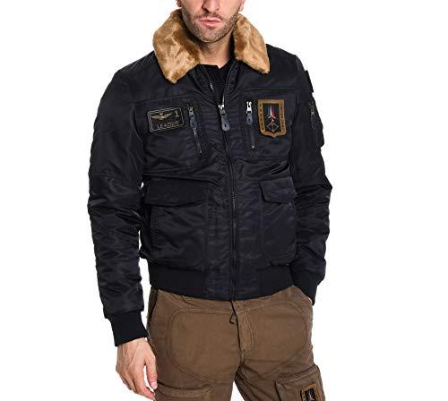 Aeronautica militare giacca outerwear uomo ab1676ct181108184 poliestere blu