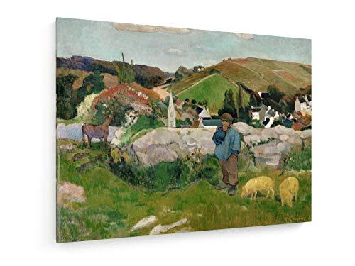 Paul Gauguin - Schweinehirt-1888-40x30 cm - Leinwandbild auf Keilrahmen - Wand-Bild - Kunst, Gemälde, Foto, Bild auf Leinwand - Alte Meister/Museum