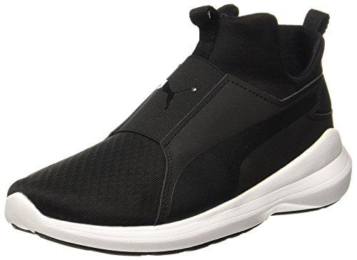 Puma Damen Rebel Mid Sneakers, Schwarz Black White 01, 38 EU