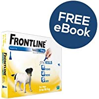 Frontline Spot On For Small Dogs - 6 Pipettes - INCLUDES EXCLUSIVE PETWELL® FLEA AND TICK E BOOK