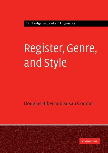 Register, Genre, and Style (Cambridge Textbooks in Linguistics) by Douglas Biber (2009-10-29)