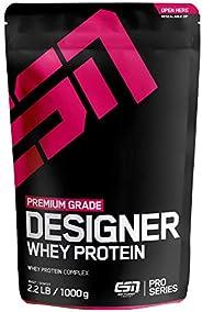 ESN Designer Whey Protein – 1000g – Vanilla – Eiweißpulver reich an essentiellen Aminosäuren (EAAs) – Sehr gut